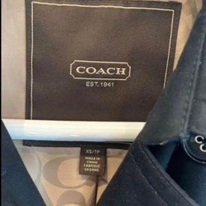 Coach Jackets & Coats - Coach black trench coat